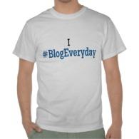 I #BlogEveryday T-Shirt FRONT
