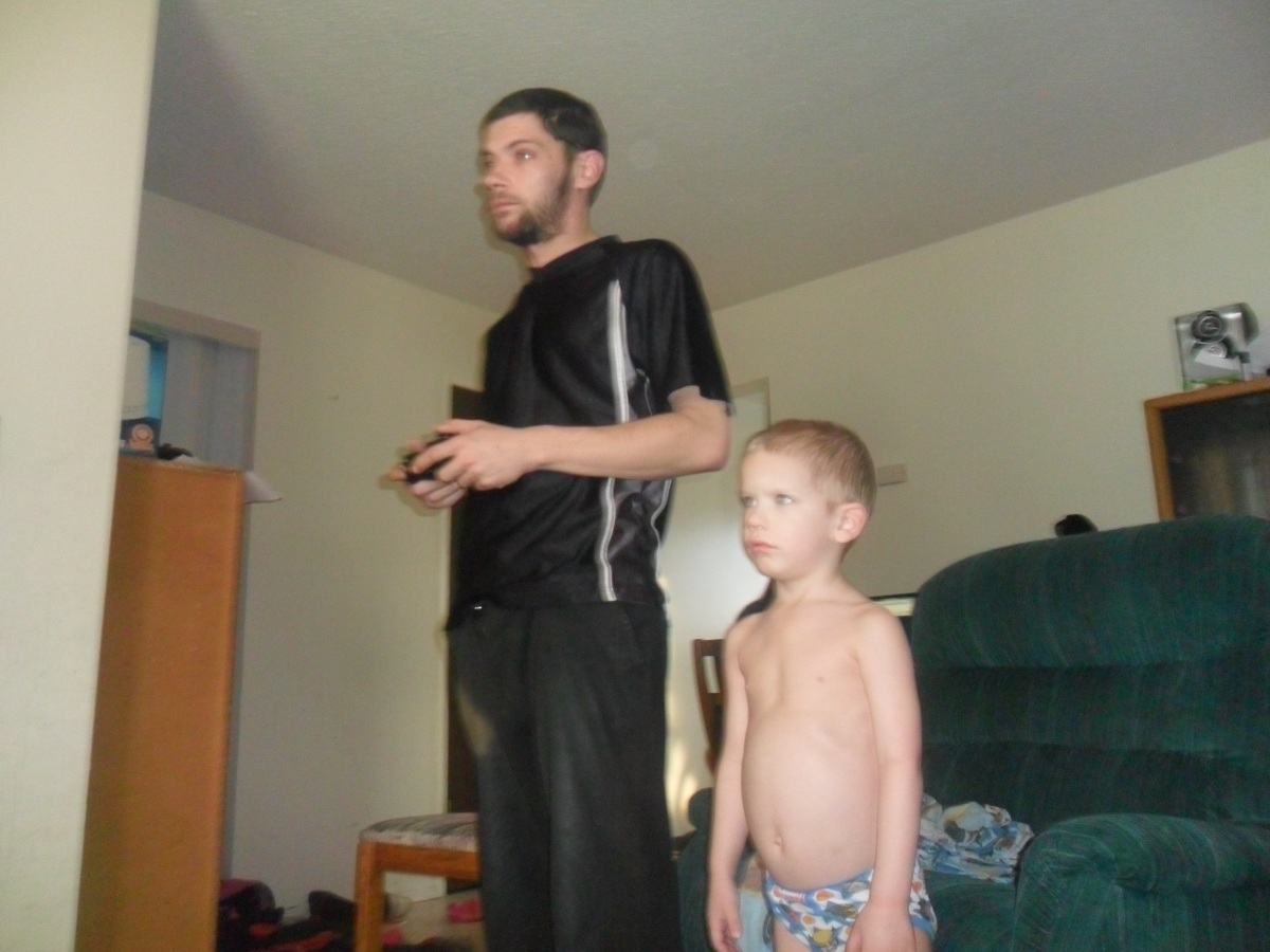 Daddy Playing Games, Carter Watching