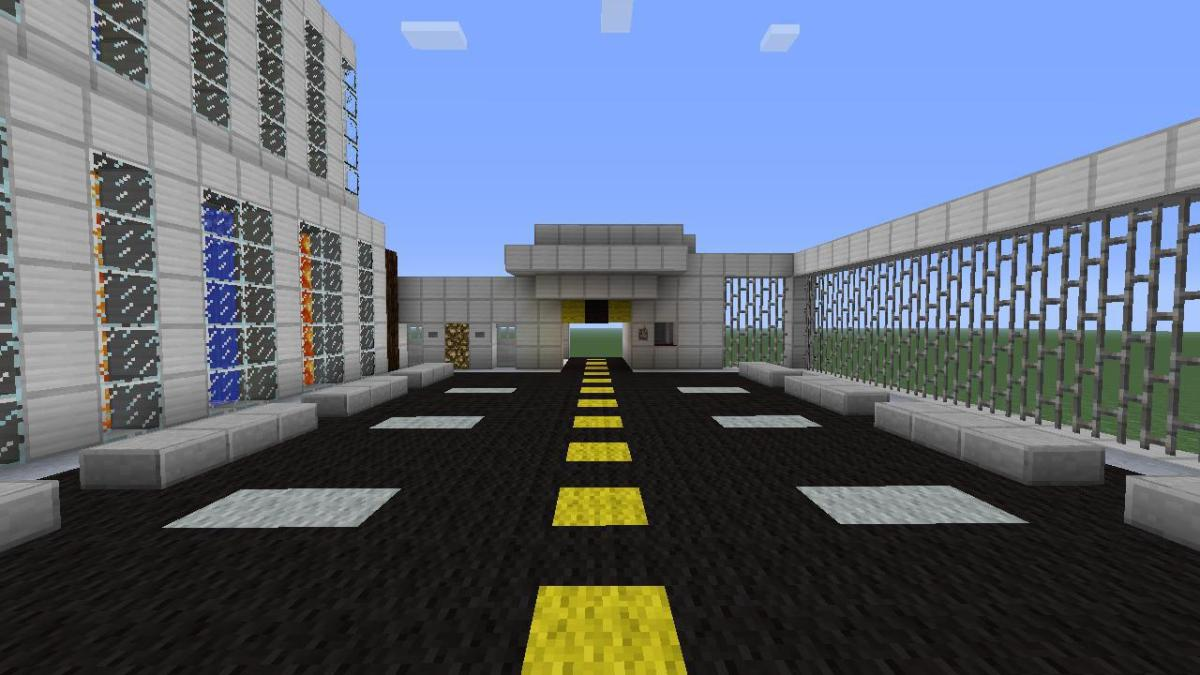 Open Security Gate - Parking Lot - Town Hall